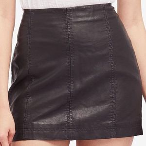 BRAND NEW Free People Leather Skirt